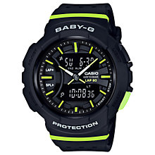 Buy Casio BGA-240-1A2ER Women's Baby G Digital Resin Strap Watch, Black Online at johnlewis.com