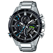 Buy Casio Men's Edifice Solar Chronograph Date Bracelet Strap Watch Online at johnlewis.com