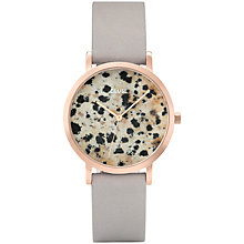 Buy CLUSE CL40106 Women's La Roche Dalmatian Leather Strap Watch, Grey/Multi Online at johnlewis.com