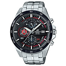 Buy Casio EFR-556DB-1AVUEF Men's Edifice Chronograph Bracelet Strap Watch, Silver/Black Online at johnlewis.com