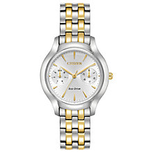 Buy Citizen FD4014-56A Women's Silhouette Day Bracelet Strap Watch, Silver/Gold Online at johnlewis.com