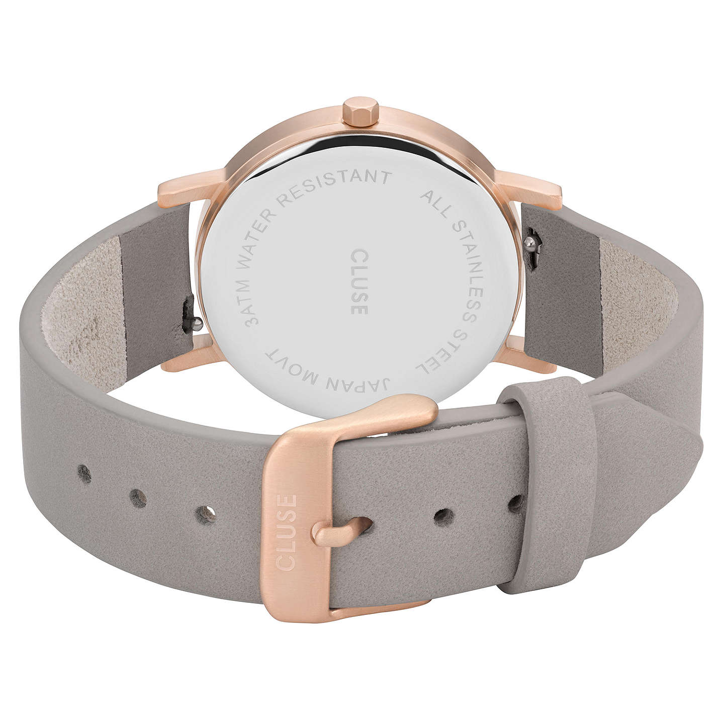 BuyCLUSE CL40103 Women's La Roche Petite Leather Strap Watch, Grey/White Marble Online at johnlewis.com