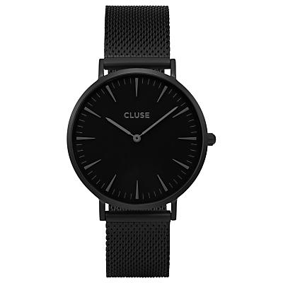 CLUSE CL40002 Women's La Boheme Mesh Bracelet Strap Watch, Black