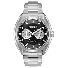 Buy Citizen BU4010-56E Men's Day Date Bracelet Strap Watch, Silver/Black Online at johnlewis.com