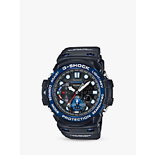 Buy Casio GN-1000B-1AER Men's G-Shock Gulfmaster World Time Chronograph Resin Strap Watch, Black Online at johnlewis.com