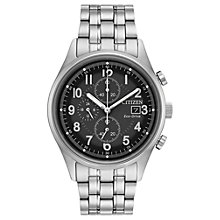 Buy Citizen CA0620-59H Men's Chronograph Date Bracelet Strap Watch, Silver/Black Online at johnlewis.com