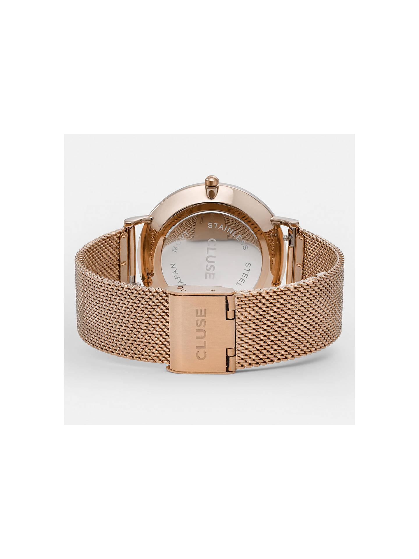 3f6ac7b83be ... Buy CLUSE CL18113 Women s La Boheme Mesh Bracelet Strap Watch