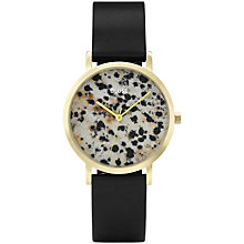 Buy CLUSE CL40105 Women's La Roche Dalmatian Leather Strap Watch, Black/Multi Online at johnlewis.com