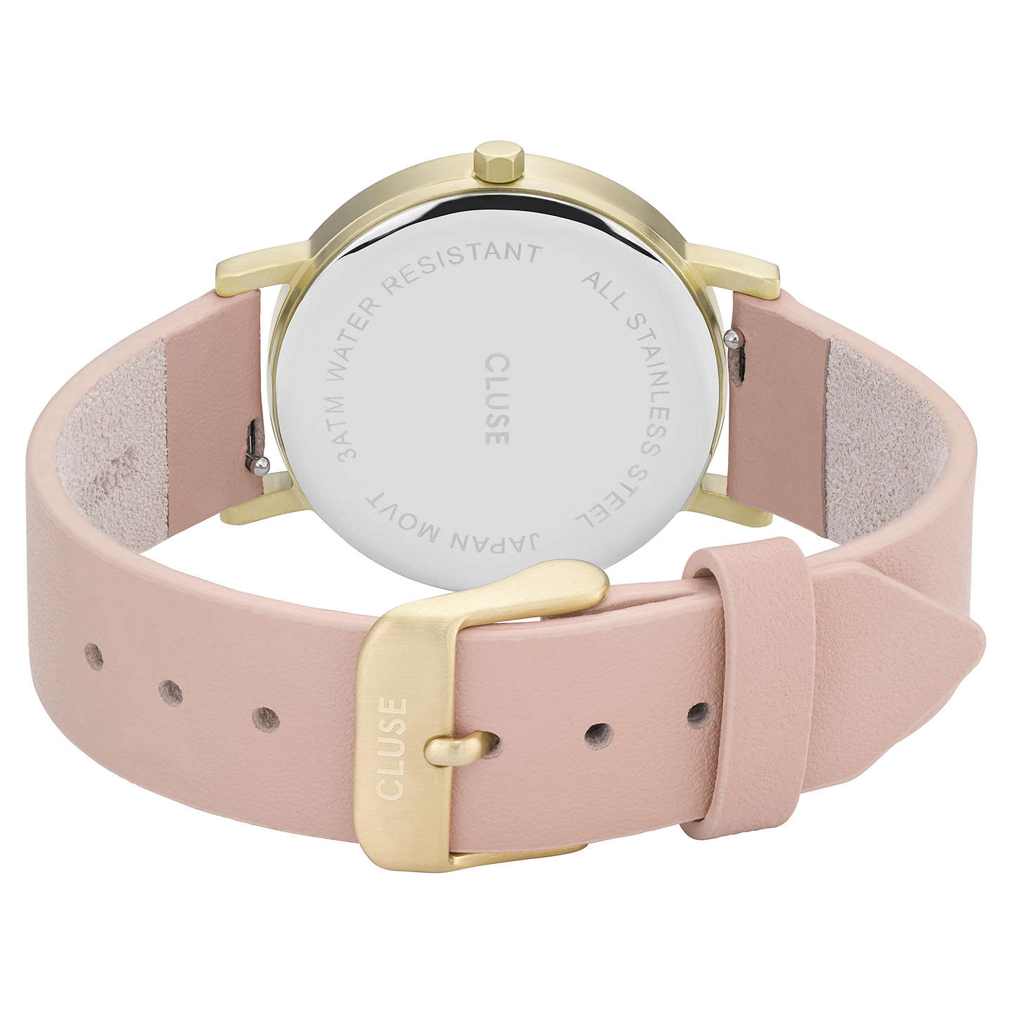 BuyCLUSE CL40101 Women's La Roche Petite Leather Strap Watch, Nude/White Marble Online at johnlewis.com