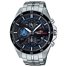 Buy Casio EFR-556TR-1AER Men's Edifice Scuderia Toro Rosso Chronograph Date Bracelet Strap Watch, Silver/Black Online at johnlewis.com
