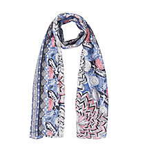 Buy Gerard Darel Folk Silk Scarf, Blue Online at johnlewis.com