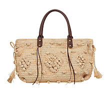 Buy Gerard Darel 24 Raphia Bag, Beige Online at johnlewis.com