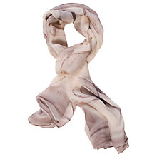 Buy Chesca Floral Printed Silk Scarf, Grey Online at johnlewis.com