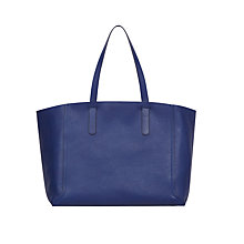 Buy Gerard Darel Le Simple Two Leather Tote Bag, Blue Online at johnlewis.com