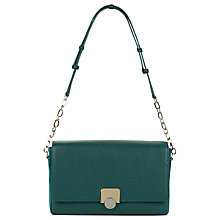 Buy Hobbs Pimlico Leather Across Body Bag, Emerald Online at johnlewis.com