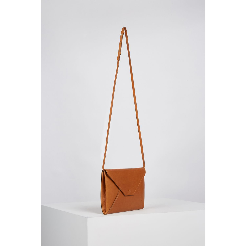 Gerard Darel L Envelope Leather Shoulder Bag At John Lewis Partners