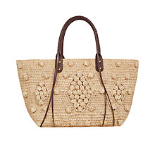 Buy Gerard Darel Panier Raphia Bag, Beige Online at johnlewis.com