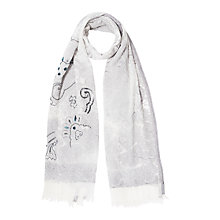 Buy Gerard Darel Farewell Scarf, Grey Online at johnlewis.com