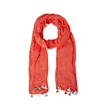 Buy White Stuff Petunia Scarf, Spring Red Online at johnlewis.com