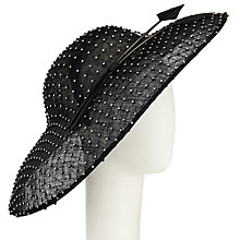Buy John Lewis Sparkle Diamante Disc Occasion Hat, Black Online at johnlewis.com