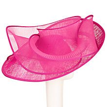 Buy Snoxells Serena Swirl Upturn Brim Occasion Hat, Fuchsia Online at johnlewis.com