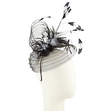 Buy John Lewis Toni Crinkle Crin Feather Fascinator, Black Online at johnlewis.com