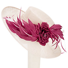 Buy John Lewis Kelly Side Upturn Flower Occasion Hat, Taupe/Claret Online at johnlewis.com