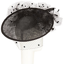 Buy Snoxells Vanessa Upturn Disc Veil Occasion Hat, Black Online at johnlewis.com
