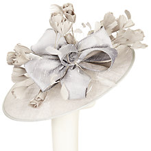 Buy Snoxells Charlotte Large Disc Occasion Hat, Silver Online at johnlewis.com