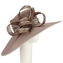 Buy John Lewis Tanya East West Shantung Occasion Hat, Silver Online at johnlewis.com