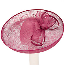 Buy John Lewis Minnie Large Bow Disc Occasion Hat, Burgundy Online at johnlewis.com
