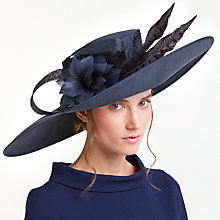Buy John Lewis Kim East West Shantung Occasion Hat, Navy Online at johnlewis.com