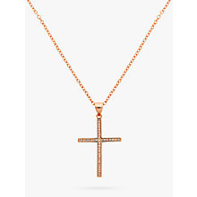 Buy Melissa Odabash Cubic Zirconia Crystal Cross Pendant Necklace Online at johnlewis.com