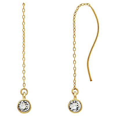 Melissa Odabash Swarovski Crystal Chain Drop Earrings