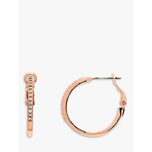 Buy Melissa Odabash Crystal Medium Hoop Earrings, Rose Gold Online at johnlewis.com