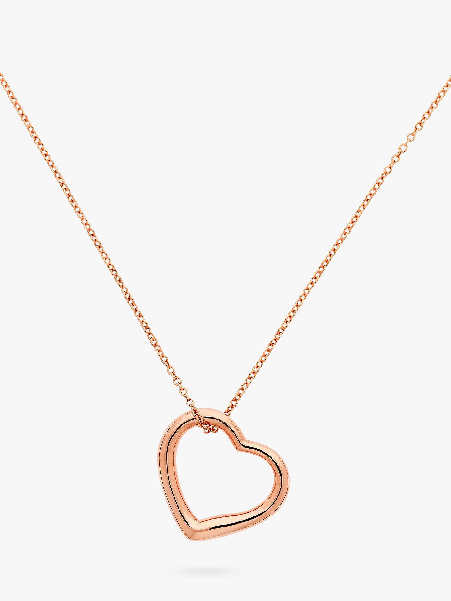 0f68b49c91381 Melissa Odabash Heart Pendant Necklace, Rose gold
