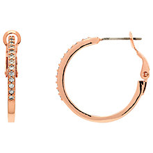 Buy Melissa Odabash Crystal Large Hoop Earrings, Rose Gold Online at johnlewis.com