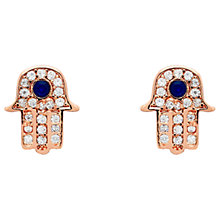 Buy Melissa Odabash Crystal Hamsa Stud Earrings Online at johnlewis.com