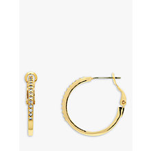 Buy Melissa Odabash 10660 Crystal Hoop Earrings, Gold Online at johnlewis.com