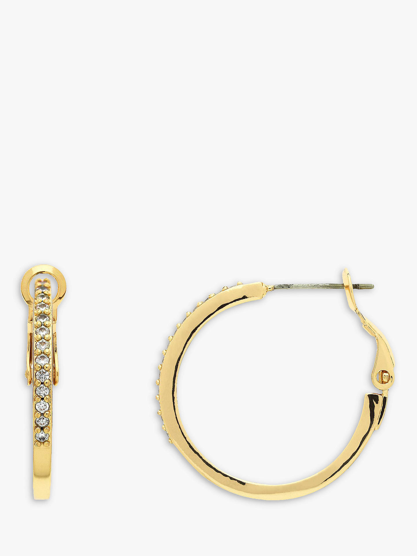 BuyMelissa Odabash 10660 Crystal Hoop Earrings, Gold Online at johnlewis.com