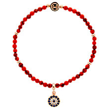 Buy Melissa Odabash Beaded Eye Stretch Bracelet, Coral Online at johnlewis.com