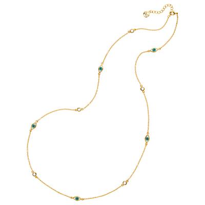 Melissa Odabash Evil Eye Chain Necklace, Gold