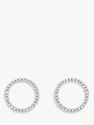 Melissa Odabash Crystal Circle Stud Earrings