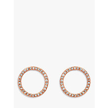 Buy Melissa Odabash Crystal Circle Stud Earrings, Rose Gold Online at johnlewis.com