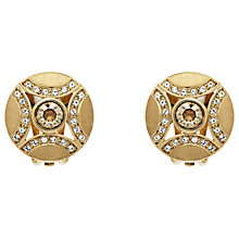 Buy Finesse Swarovski Disc Clip On Earrings Online at johnlewis.com