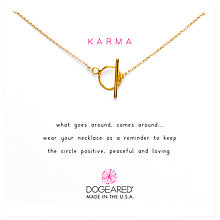 Buy Dogeared Karma Open Toggle Necklace, Gold Online at johnlewis.com