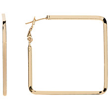 Buy John Lewis Square Hoop Earrings, Gold Online at johnlewis.com