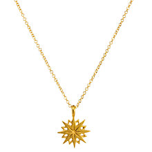 Buy Dogeared Maya Angelou Be Courageous Starburst Necklace, Gold Online at johnlewis.com