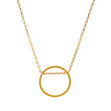 Buy Dogeared Circle Open Sliding Ring Necklace, Gold Online at johnlewis.com