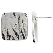 Buy John Lewis Square Stud Earrings, Silver Online at johnlewis.com